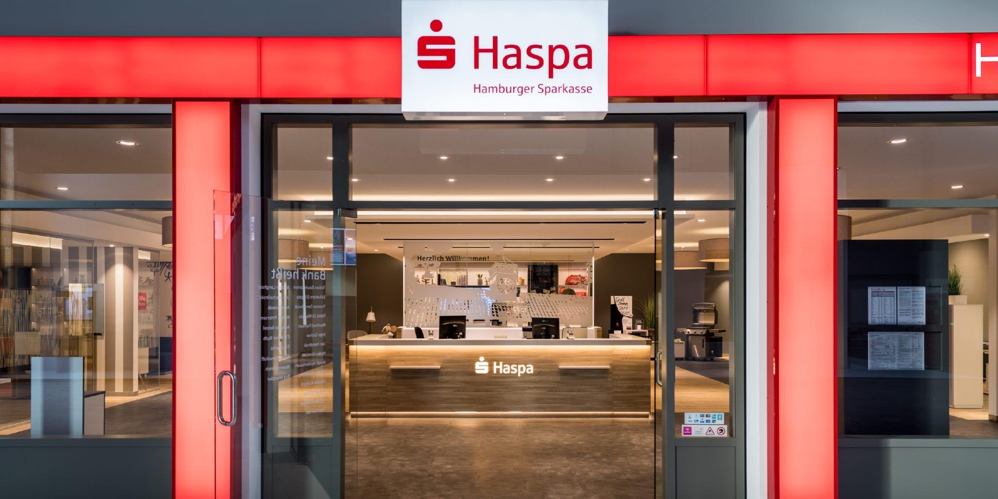 Haspa Filiale der Zukunft Fassade