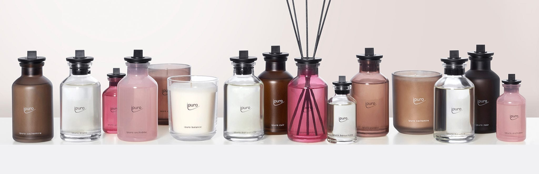 ipuro room scent flasks and scented candles