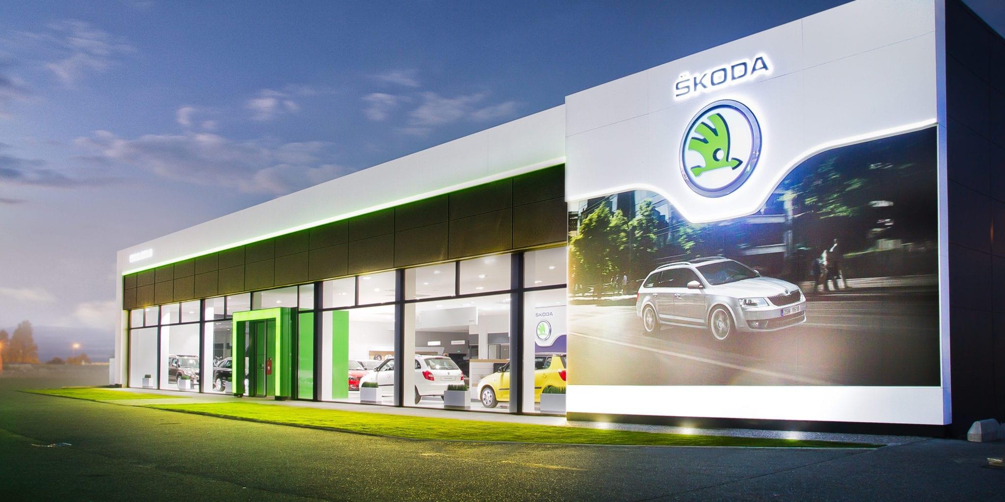 Skoda Autohaus Außenansicht