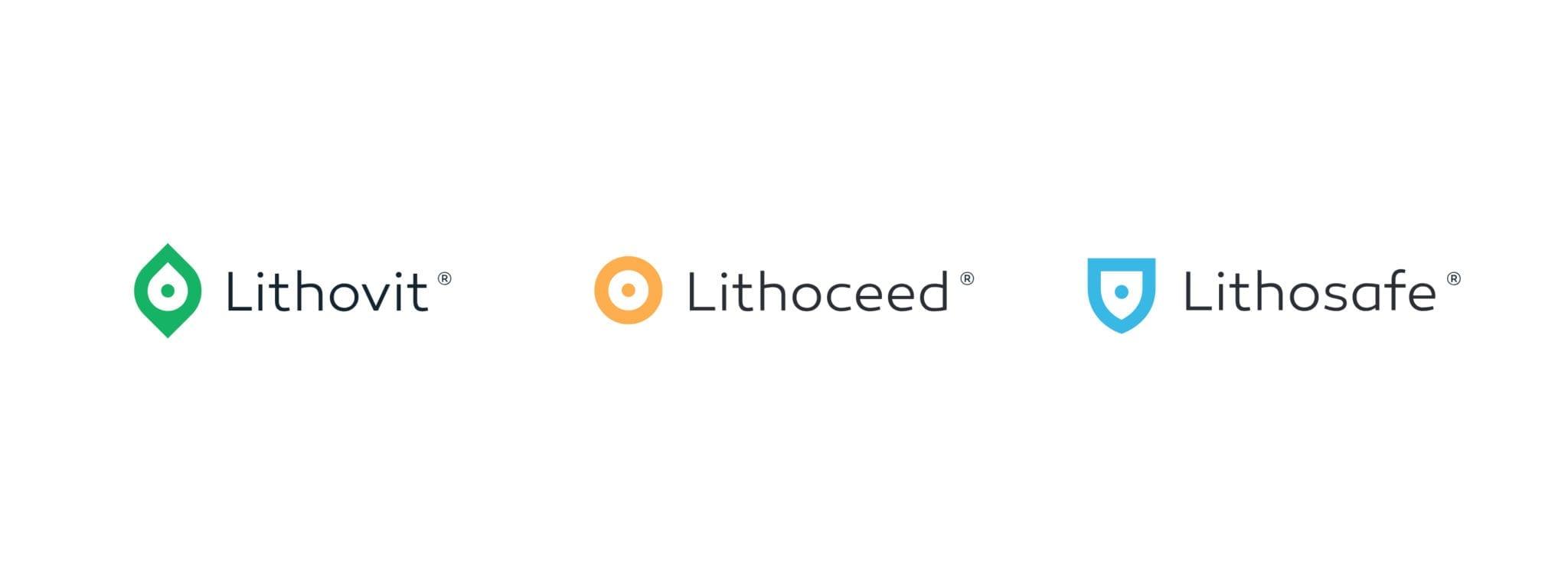 Tribodyn Produktlogos Lithovit, Lithoceed, Lithosafe