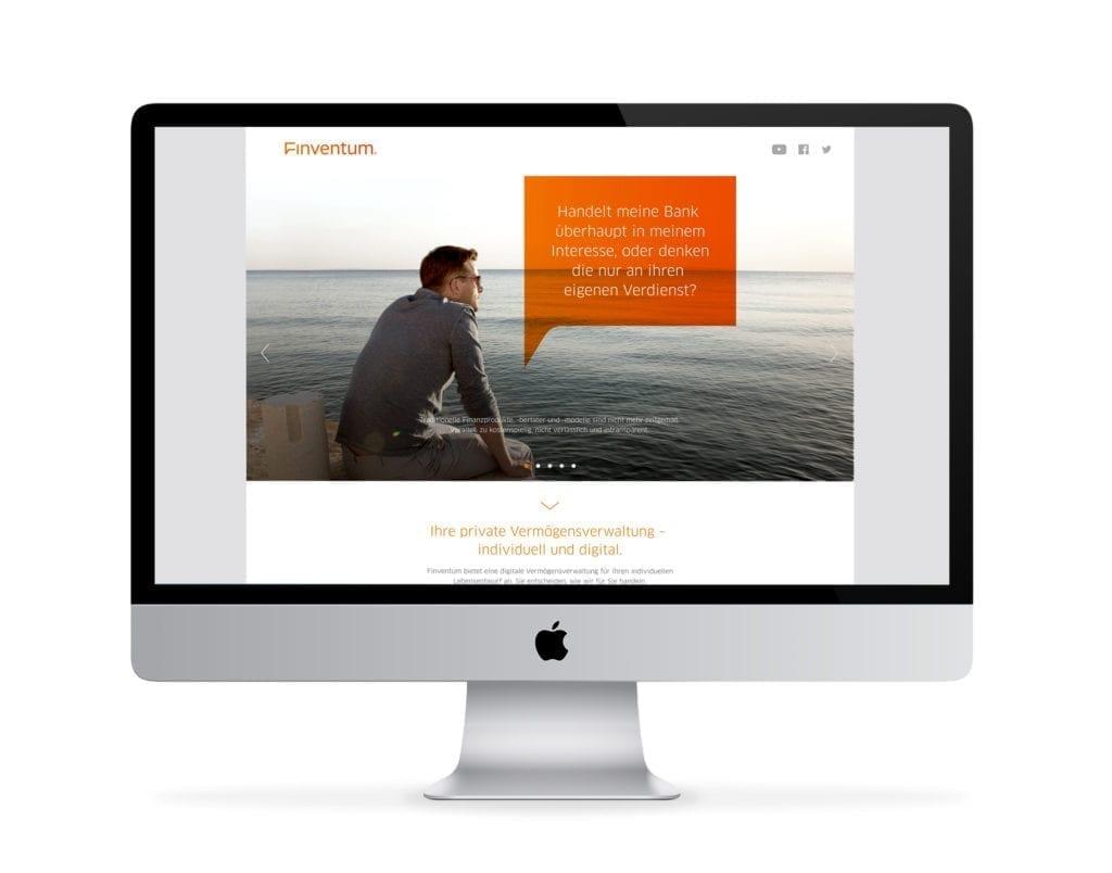 Finventum Webdesign auf iMac