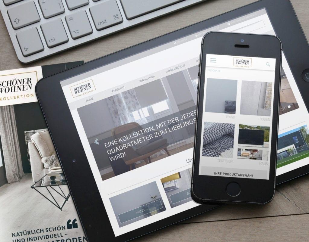 Schöner Wohnen Web und Mobile Interface Design