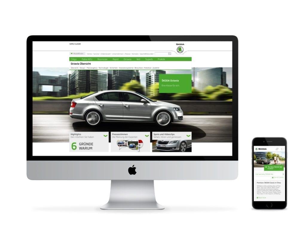 Skoda Web und Mobile Interface Design