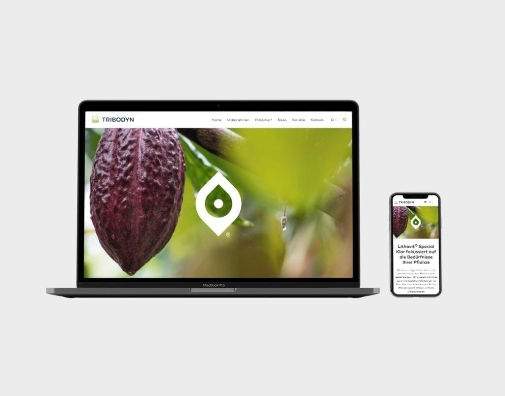 Tribodyn Web und Mobile Interface Design