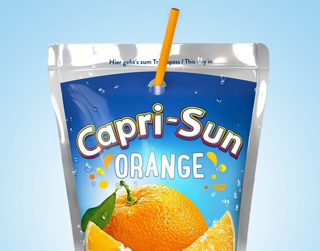 Capri-Sun Orange Verpackungsdesign