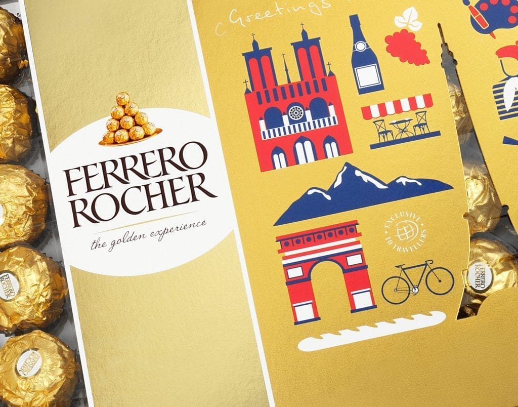 Ferrero Rocher the golden experience Verpackungsdesign