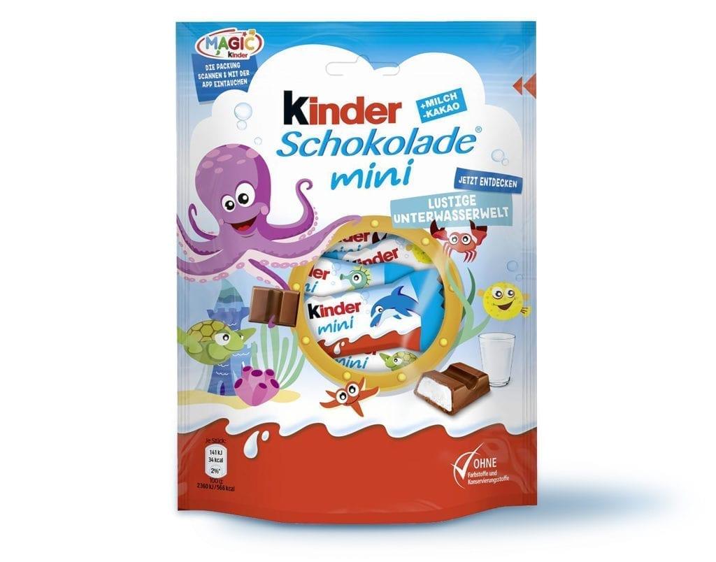 Kinder Schokolade mini Verpackungsdesign