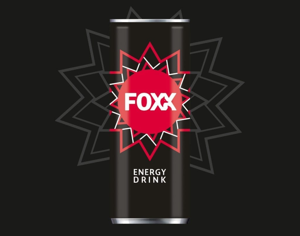 Foxx Energy Drink Verpackungsdesign