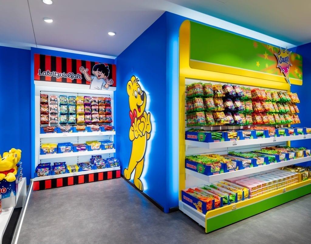 Haribo Store Süßigkeitenregale