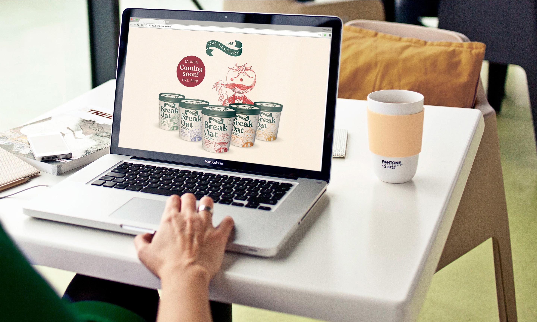 The Oat Factory Web design on Macbook