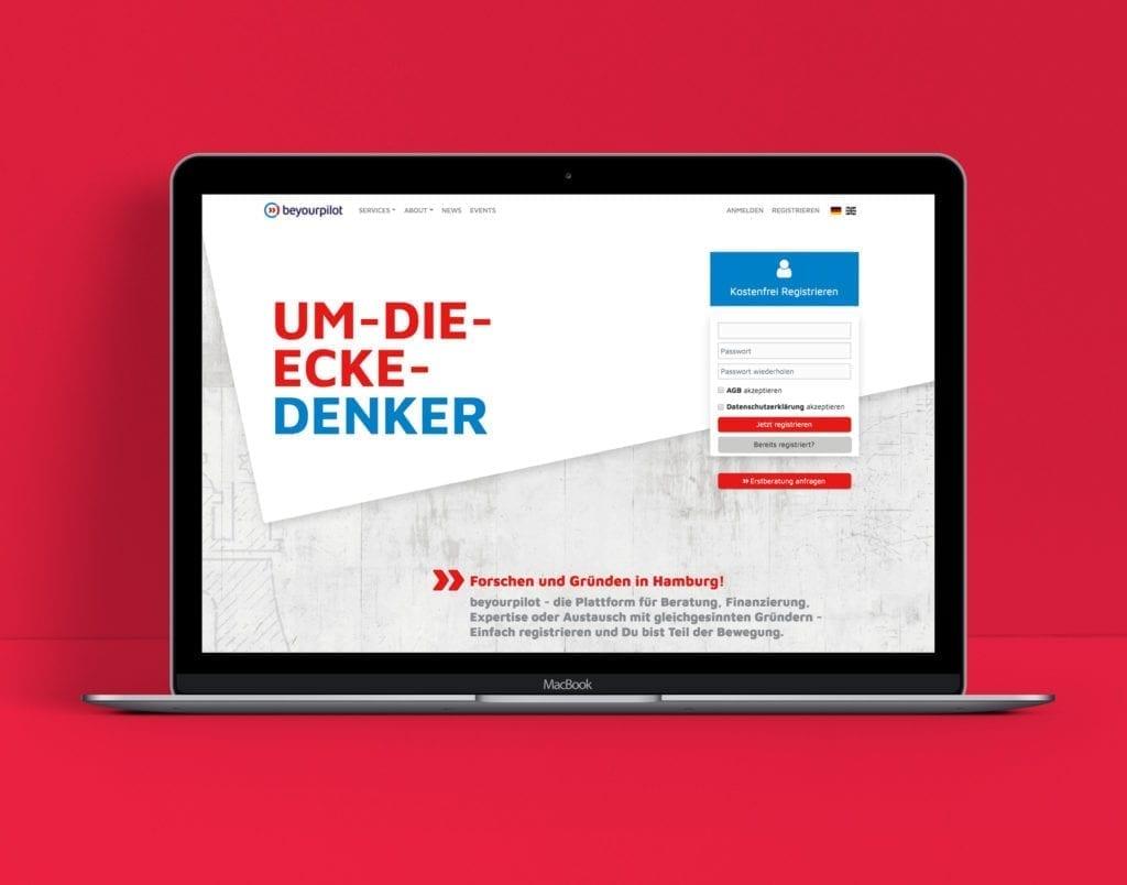 beyourpilot Webdesign auf Macbook