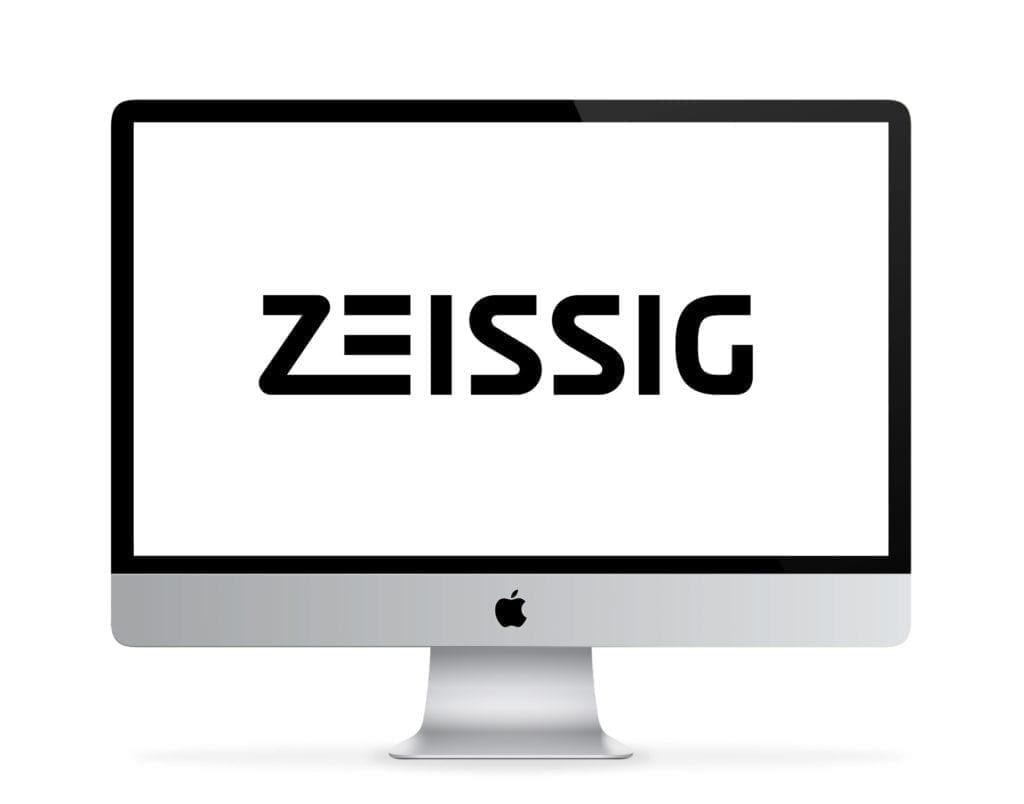 Zeissig Logo auf iMac