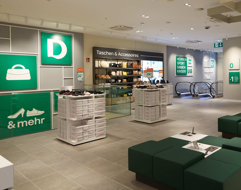 Deichmann store interior view