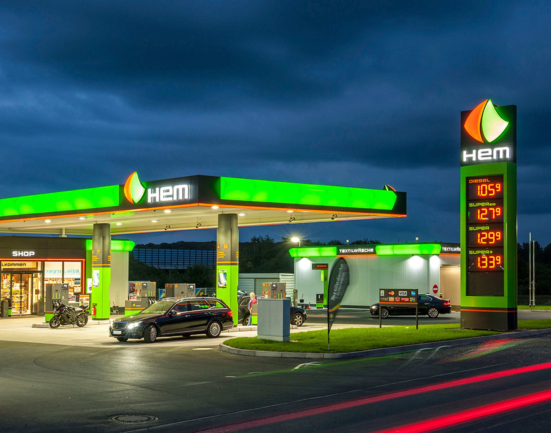 HEM gas station