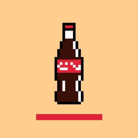 Cola Flasche als Pixelgrafik