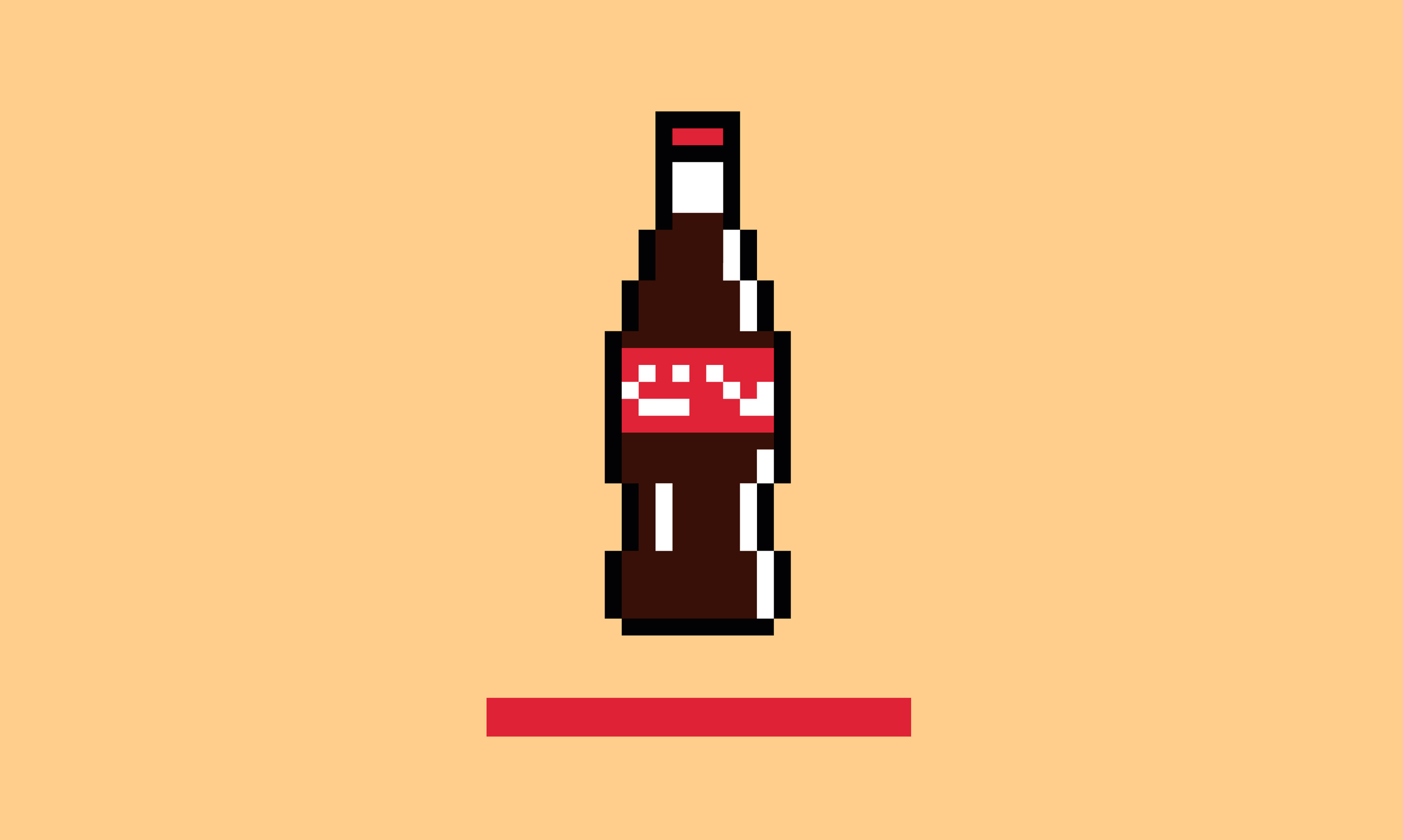 pixelated cola bottle