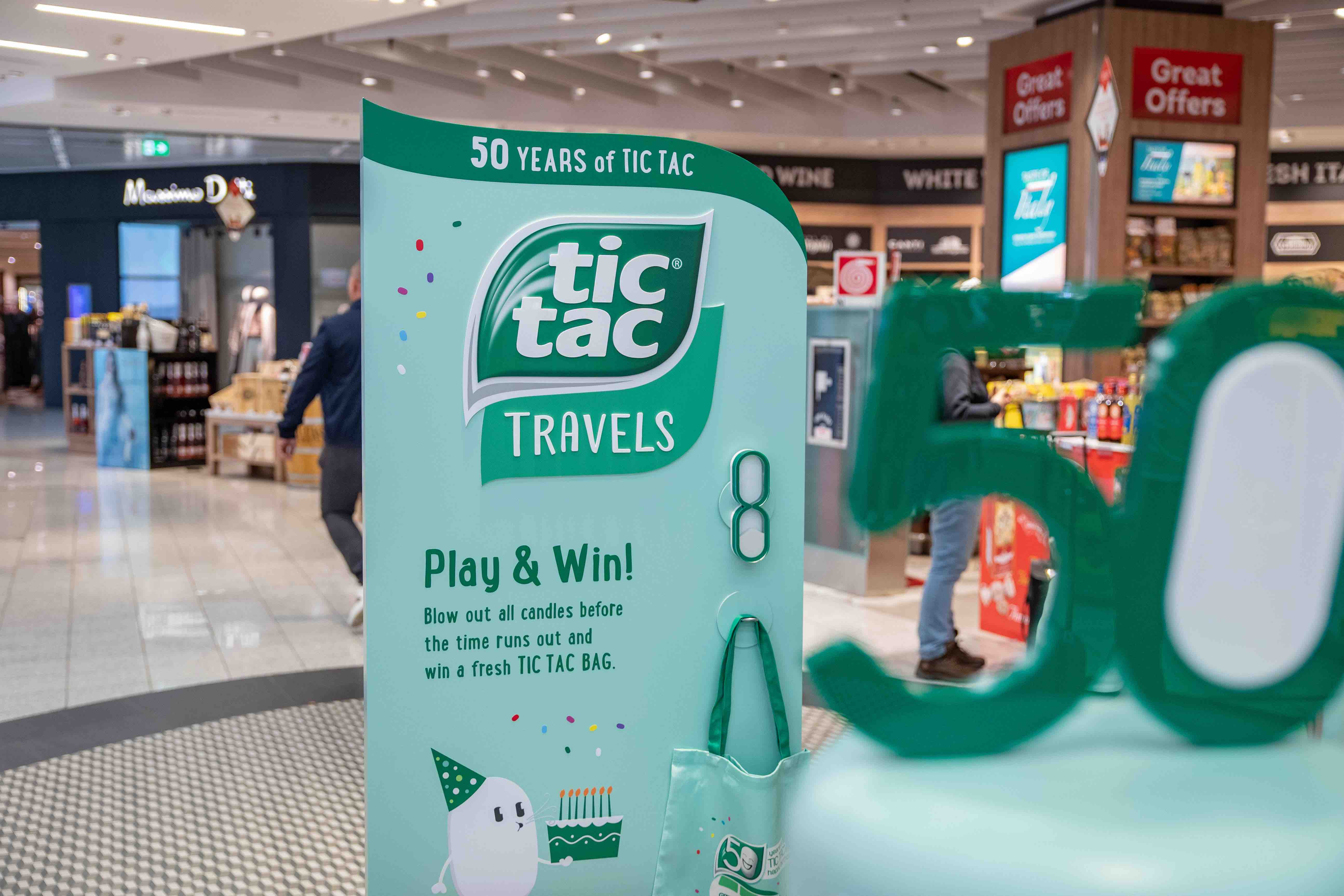 Taictac Travels 50th anniversary display